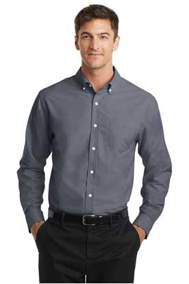 Picture of Port Authority ®  Tall SuperPro ™  Oxford Shirt. TS658
