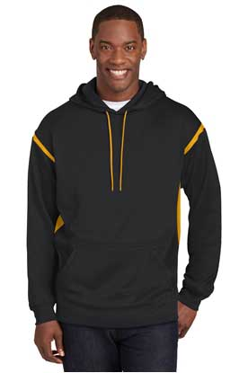 Picture of Sport-Tek ®  Tall Tech Fleece Colorblock  Hooded Sweatshirt. TST246