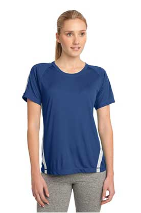 Picture of Sport-Tek ®  Ladies Colorblock PosiCharge ®  Competitor™ Tee. LST351