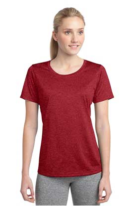 Picture of Sport-Tek ®  Ladies Heather Contender ™  Scoop Neck Tee. LST360