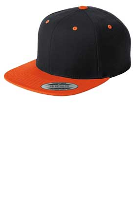 Picture of Sport-Tek ®  Yupoong ®  Flat Bill Snapback Cap. STC19