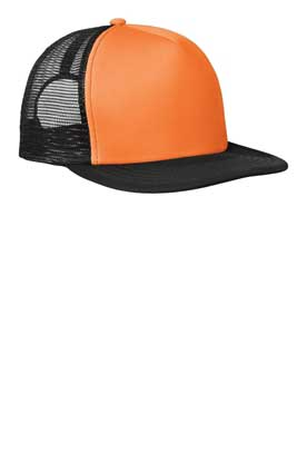 Picture of District ®  - Flat Bill Snapback Trucker Cap. DT624