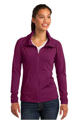 Picture of Sport-Tek ®  Ladies Sport-Wick ®  Stretch Full-Zip Jacket. LST852