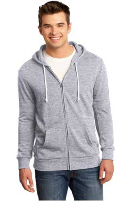 Picture of District ®  - Young Mens Core Fleece Full-Zip Hoodie DT190