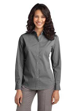 Picture of Port Authority ®  Ladies Fine Stripe Stretch Poplin Shirt. L647
