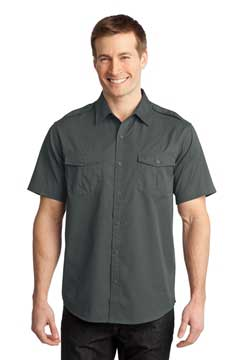 Picture of Port Authority ®  Stain-Release Short Sleeve Twill Shirt. S648