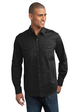 Picture of Port Authority ®  Stain-Release Roll Sleeve Twill Shirt. S649