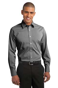Picture of Port Authority ®  Fine Stripe Stretch Poplin Shirt. S647