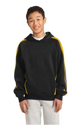 Picture of Sport-Tek ®  Youth Sleeve Stripe Pullover Hooded Sweatshirt. YST265