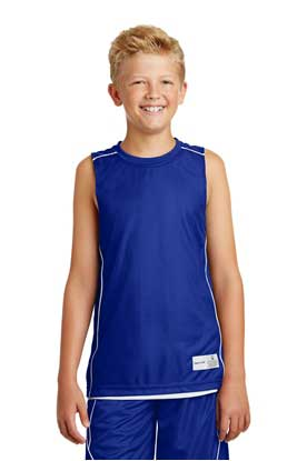 Picture of Sport-Tek ®  Youth PosiCharge ®  Mesh Reversible Sleeveless Tee. YT555