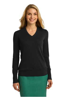 Picture of Port Authority ®  Ladies V-Neck Sweater. LSW285