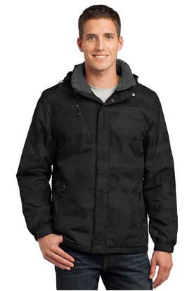 Picture of Port Authority ®  Brushstroke Print Insulated Jacket. J320