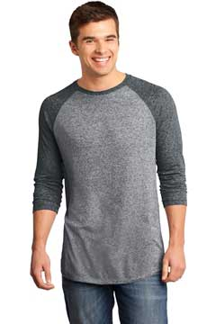 Picture of District ®  - Young Mens Microburn ®  3/4-Sleeve Raglan Tee. DT162