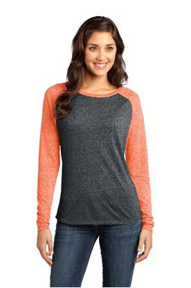 Picture of District ®  - Juniors Microburn ®  Long Sleeve Raglan Tee. DT262