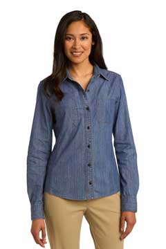 Picture of Port Authority ®  Ladies Patch Pockets Denim Shirt. L652