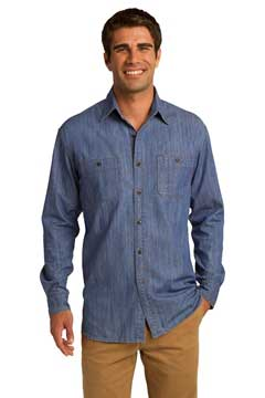 Picture of Port Authority ®  Patch Pockets Denim Shirt. S652