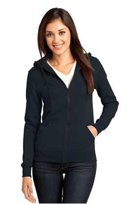 Picture of District ®  - Juniors The Concert Fleece ®  Full-Zip Hoodie. DT801