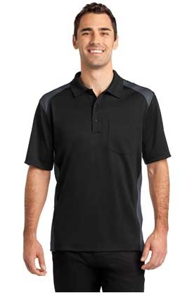 Picture of CornerStone ®  Select Snag-Proof Two Way Colorblock Pocket Polo. CS416