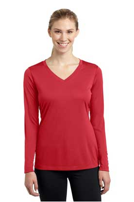 Picture of Sport-Tek ®  Ladies Long Sleeve PosiCharge ®  Competitor™ V-Neck Tee. LST353LS