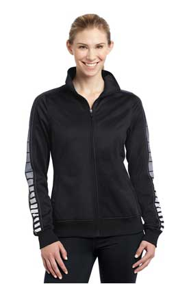Picture of Sport-Tek ®  Ladies Dot Sublimation Tricot Track Jacket. LST93