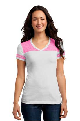 Picture of District ®  Juniors Varsity V-Neck Tee. DT264
