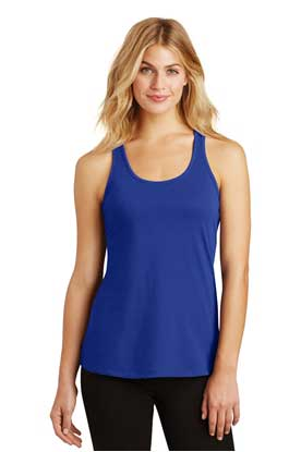 Picture of District Made ®  Ladies 60/40 Gathered Racerback Tank. DM420