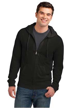 Picture of District ®  Young Mens Jersey Full-Zip Hoodie. DT1100