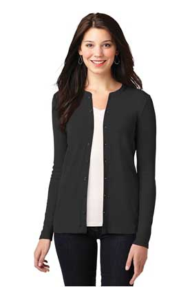 Picture of Port Authority ®  Ladies Concept Stretch Button-Front Cardigan. LM1008