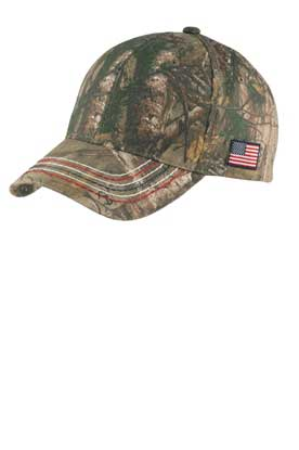 Picture of Port Authority ®  Americana Contrast Stitch Camouflage Cap. C909