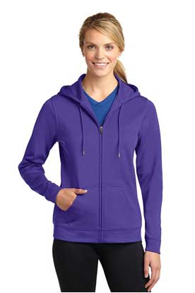 Picture of Sport-Tek ®  Ladies Sport-Wick ®  Fleece Full-Zip Hooded Jacket. LST238