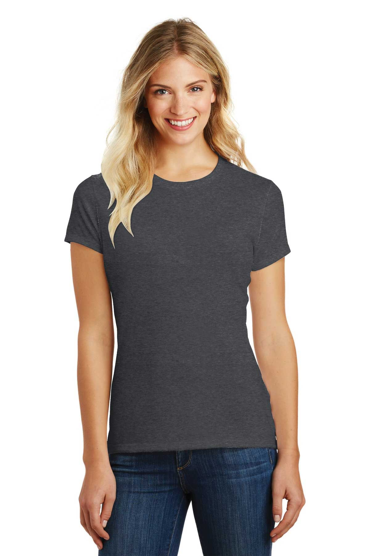 Picture of District Made ®  Ladies Perfect Blend ®  Crew Tee. DM108L