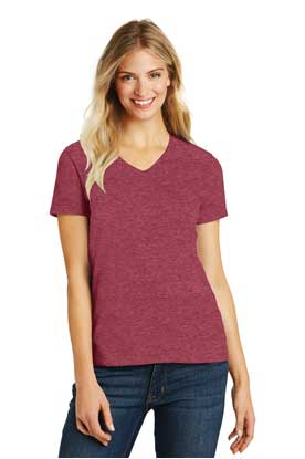 Picture of District Made ®  Ladies Perfect Blend ®  V-Neck Tee. DM1190L