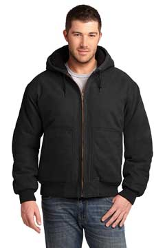 Picture of CornerStone ®  Washed Duck Cloth Insulated Hooded Work Jacket. CSJ41