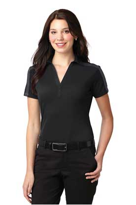Picture of Port Authority ®  Ladies Silk Touch™ Performance Colorblock Stripe Polo. L547