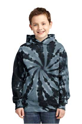 Picture of Port & Company ®  Youth Tie-Dye Pullover Hooded Sweatshirt. PC146Y