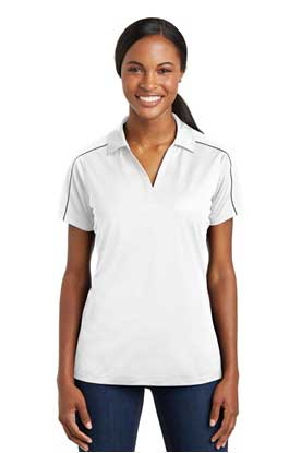 Picture of Sport-Tek ®  Ladies Micropique Sport-Wick ®  Piped Polo. LST653