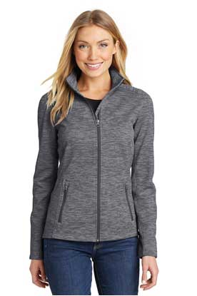 Picture of Port Authority ®  Ladies Digi Stripe Fleece Jacket. L231