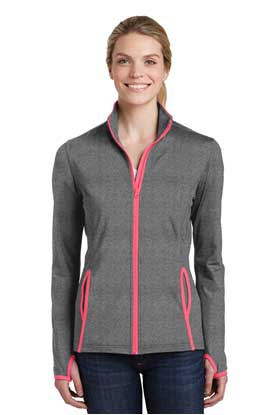 Picture of Sport-Tek ®  Ladies Sport-Wick ®  Stretch Contrast Full-Zip Jacket.  LST853
