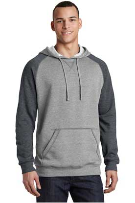 Picture of District ®  Young Mens Lightweight Fleece Raglan Hoodie.  DT196
