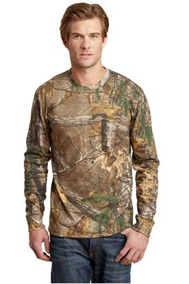 Picture of Russell Outdoors ™  Realtree ®  Long Sleeve Explorer 100% Cotton T-Shirt with Pocket. S020R