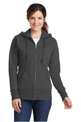 Picture of Port & Company ®  Ladies Core Fleece Full-Zip Hooded Sweatshirt. LPC78ZH