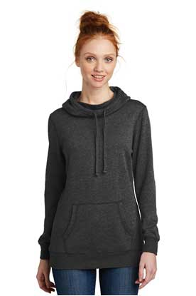 Picture of District Made ®  Ladies Lightweight Fleece Hoodie. DM493