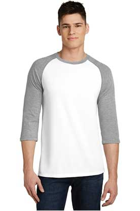 Picture of District ®  Young Mens Very Important Tee ®  3/4-Sleeve Raglan. DT6210
