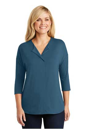 Picture of Port Authority ®  Ladies Concept 3/4-Sleeve Soft Split Neck Top. LK5433