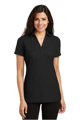 Picture of Port Authority ®  Ladies Silk Touch ™  Y-Neck Polo. L5001