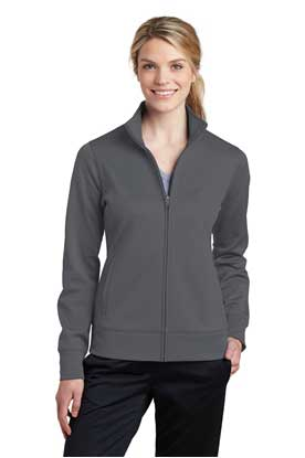 Picture of Sport-Tek ®  Ladies Sport-Wick ®  Fleece Full-Zip Jacket.  LST241