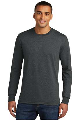 Picture of District Made ®  Mens Perfect Tri ®  Long Sleeve Crew Tee . DM132