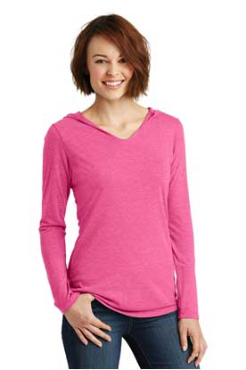 Picture of District Made ®  Ladies Perfect Tri ®  Long Sleeve Hoodie. DM139L