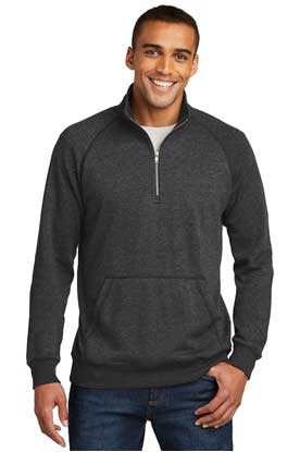Picture of District Made ®  Mens Lightweight Fleece 1/4-Zip. DM392