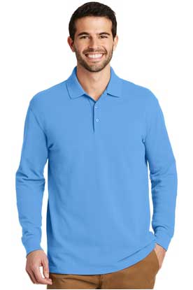 Picture of Port Authority ®  EZCotton ™  Long Sleeve Polo. K8000LS